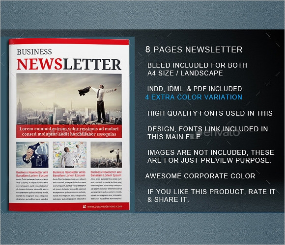 Sample Indesign Newsletter   Documents In Pdf Psd