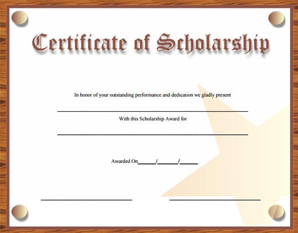 Certificates Certificate Wording Certificate Wording Sample Award – Sample Scholarship Certificate