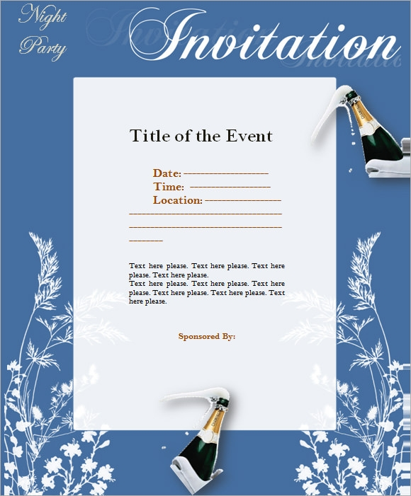 9 Event Invitations PSD Vector EPS PDF – Formal Invitation Letter for Event