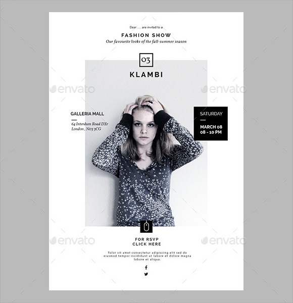 fashion show email invitation sample