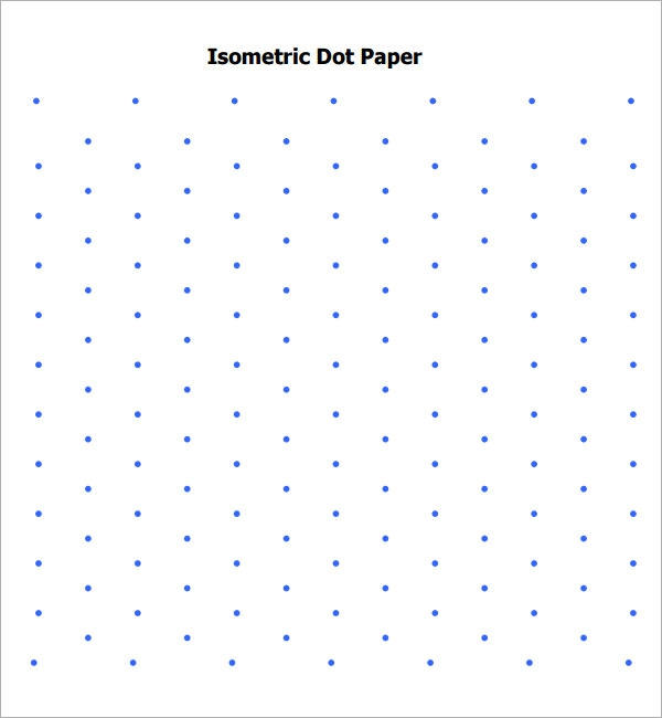 Isometric Dot Paper   Free Download For Pdf