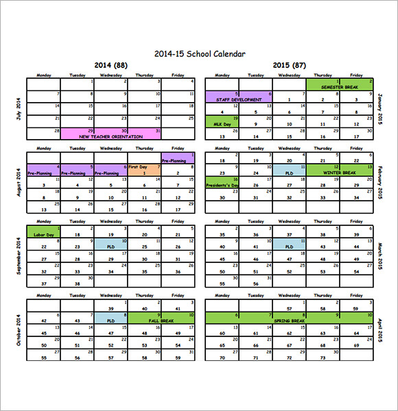 Calendar Printables For Teachers : Weekly teacher planning calendar template software free