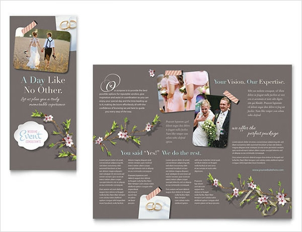 12 wedding brochures sample templates for Free wedding brochure templates download