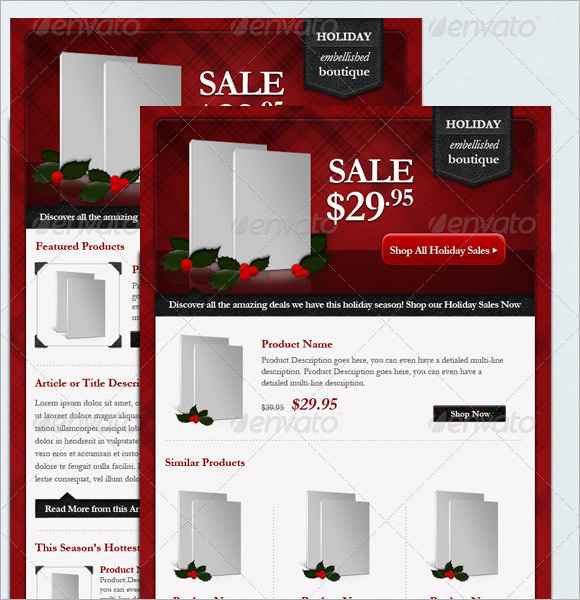 holiday cards template