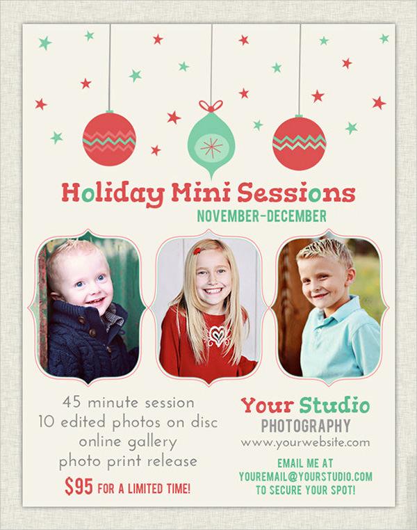 christmas holiday flyer template