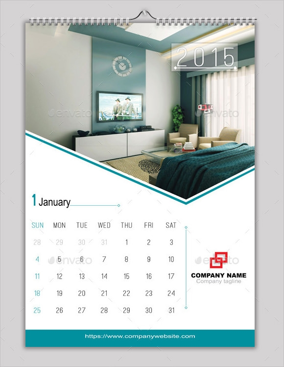 Sample Indesign Calendar Calendar Template Indesign Indd Wall