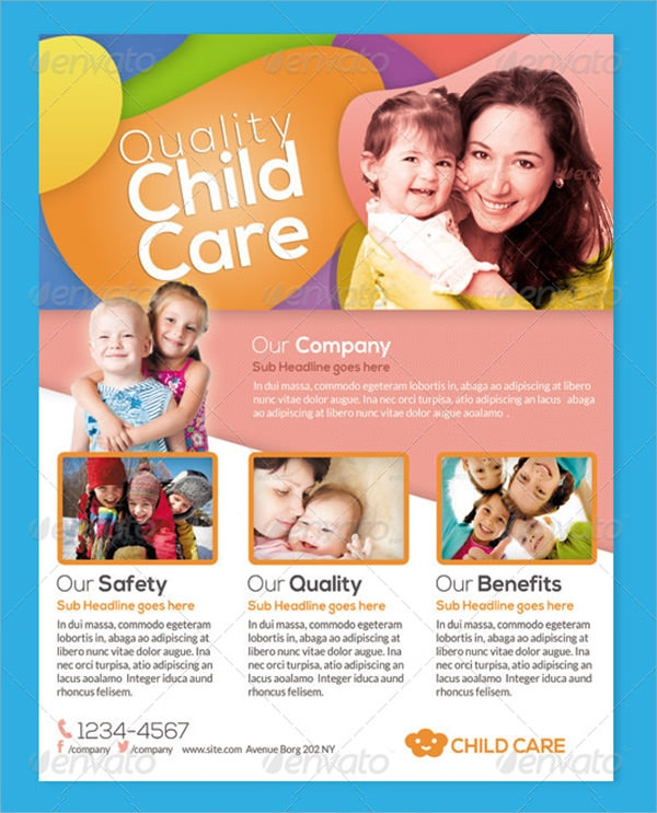 15 day care flyers sample templates for Daycare brochure template