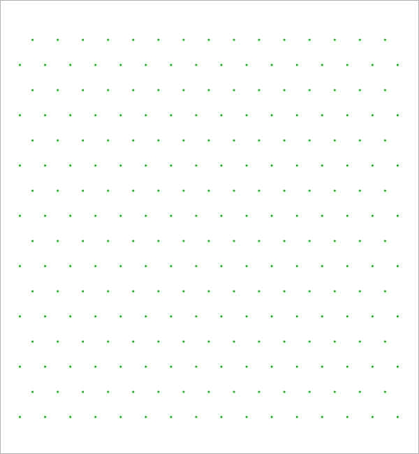picture about Dot Grid Paper Printable called Cost-free 7+ Pattern Isometric Dot Paper Templates within PDF