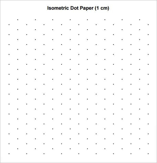 8  sample isometric dot paper templates