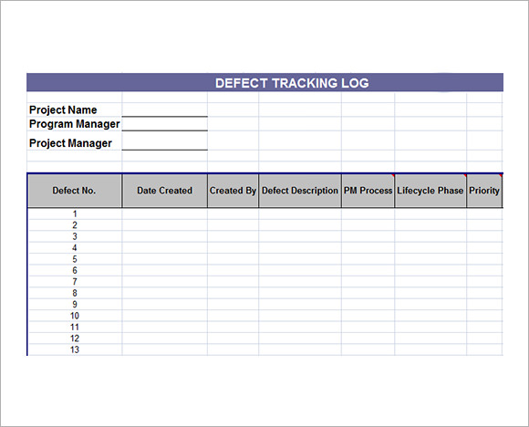 issue tracking template excel