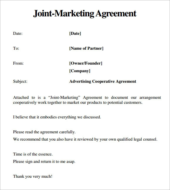 Marketing Contract Agreement Template