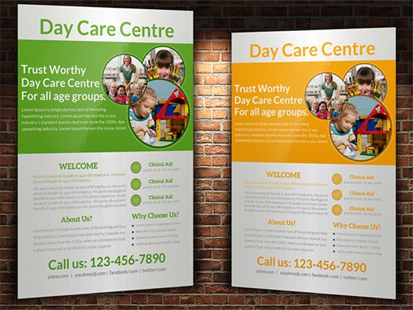 15 day care flyers sample templates for Child care brochure template free