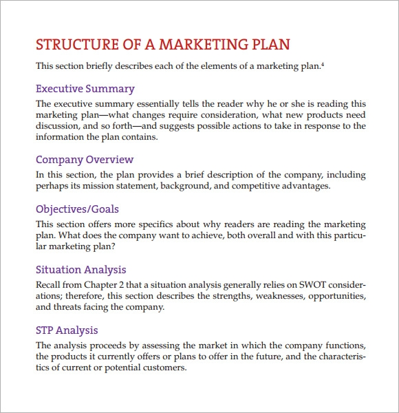 Marketing Business Plan Template Novasatfmtk - Free sample business plan template pdf