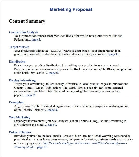 Advertising proposal template marketing proposal template 7 download for pdf word sample altavistaventures Choice Image