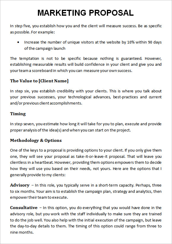 proposal for marketing services template - 19 marketing proposal templates sample templates