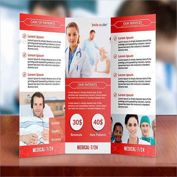 8 medical brochures psd in design