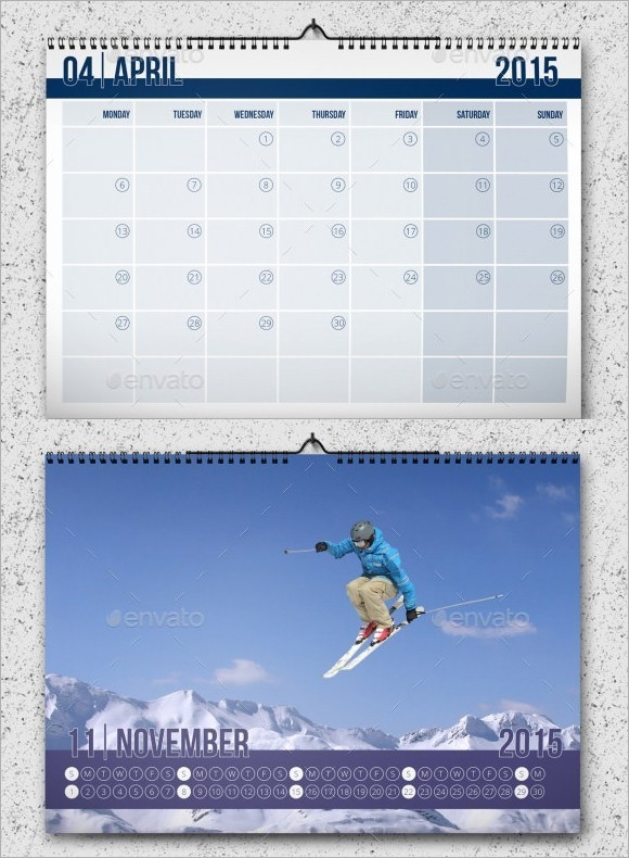 Sample Monthly Calendar Template   Documents In Psd Pdf