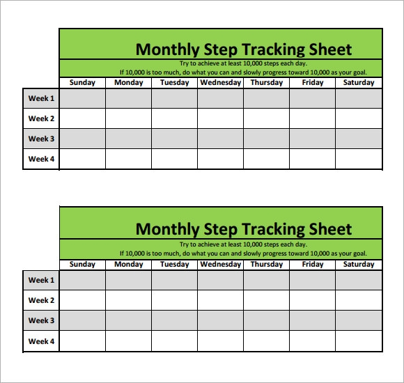 Tracking Sheet Template - 7 Free Download for PDF