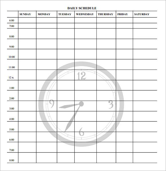 sample planning calendar