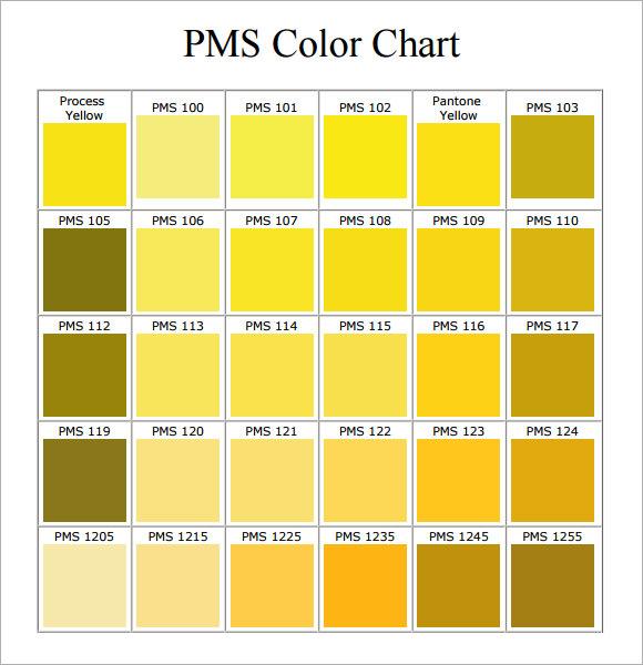 color chart pdf: