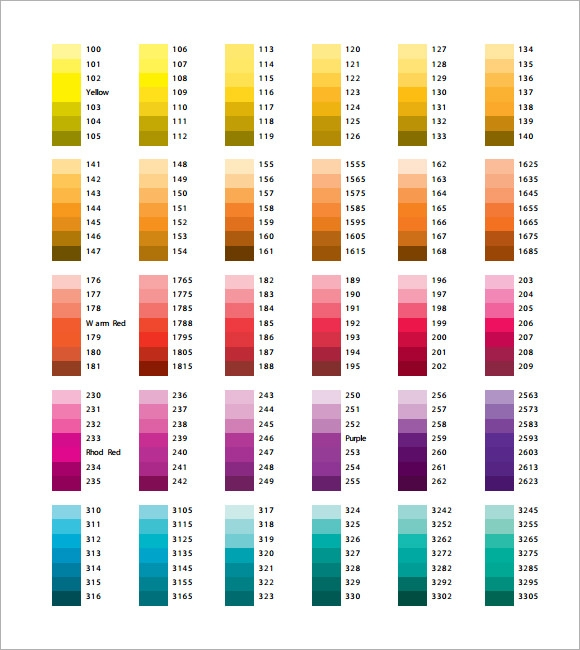 Pantone Color Chart Pdf  BesikEightyCo