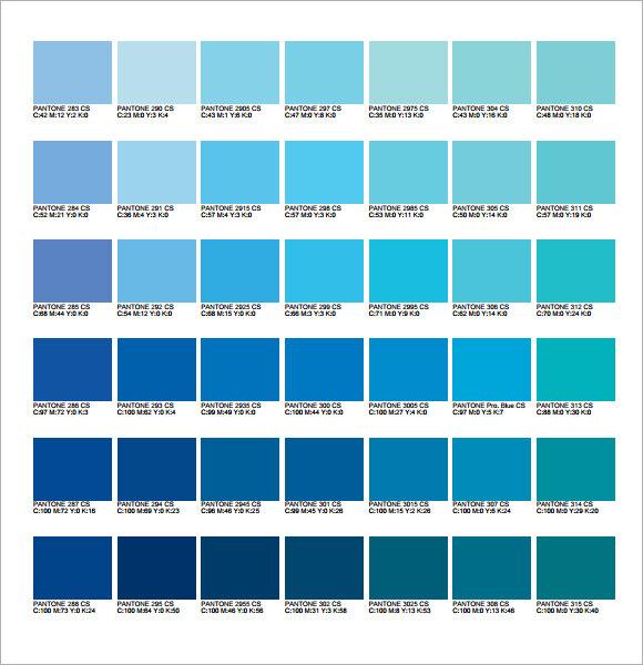 Pantone pms colour chart download for Dark blue color chart