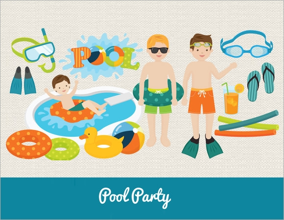 pool party invitation for kids1