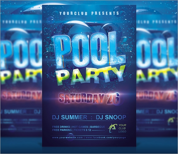Pool Party Invitation Template 7 Premium Download – Free Party Invitation Designs