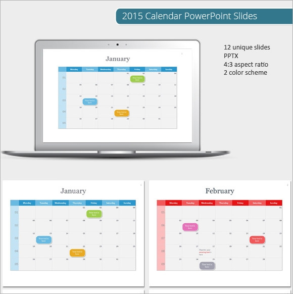 sample powerpoint calendar template - 7+ documents in ppt, psd, Modern powerpoint