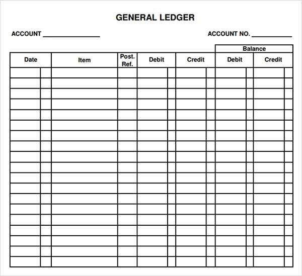 Free General Ledger Template Excel