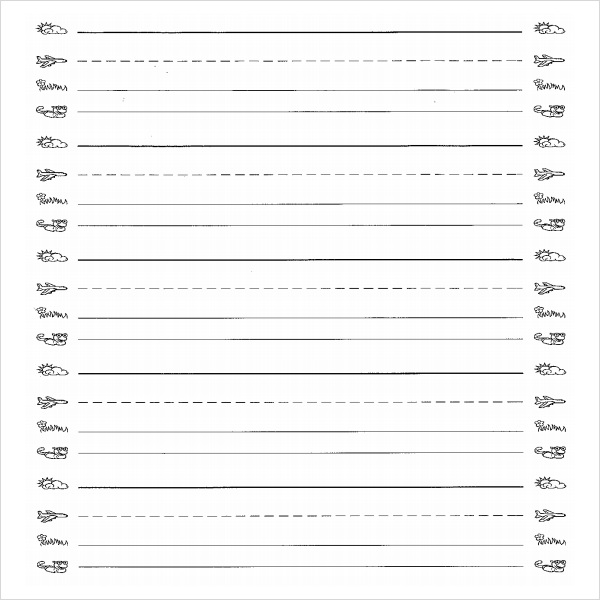 printable lined paper for kidss