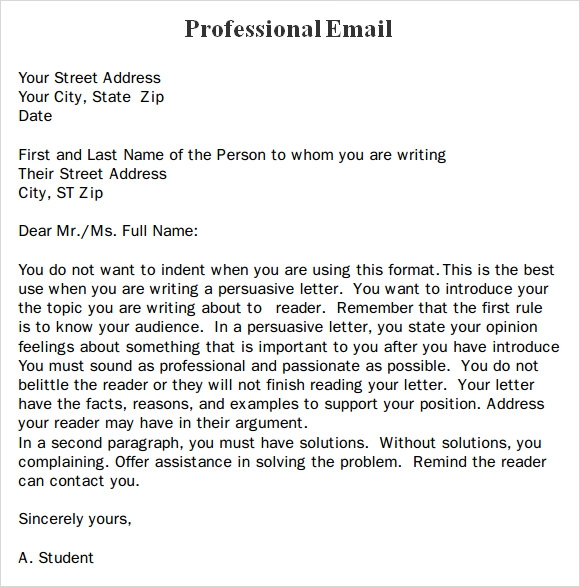 Professional Business Email Format | Best Business Template