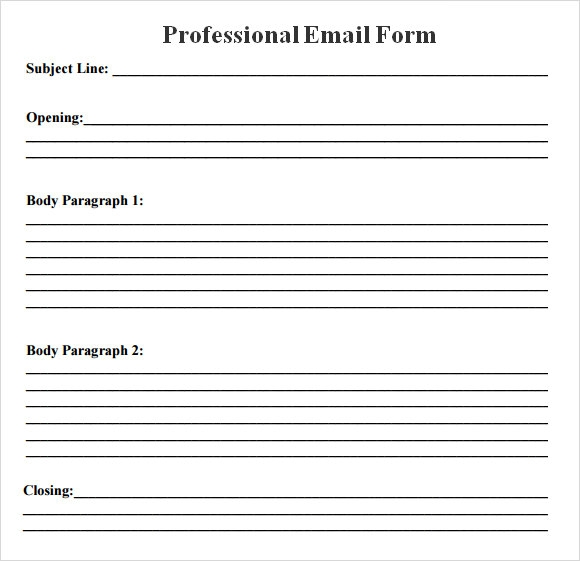 professional email messages examples