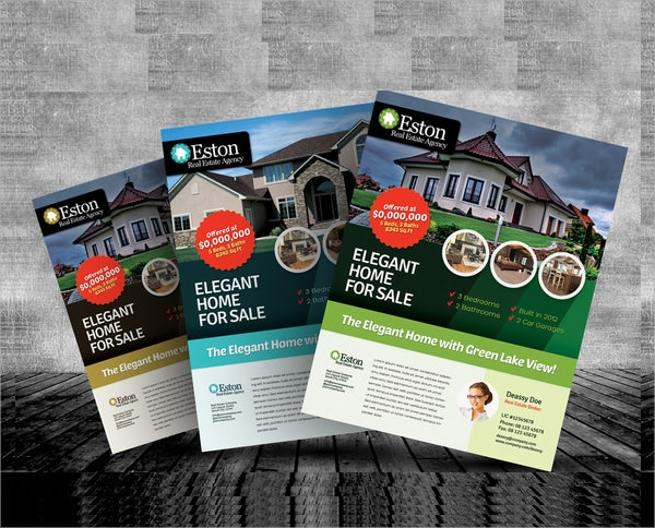 Real Estate Brochures Sample Templates - Real estate sales brochure template