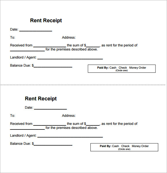 rental receipt template1