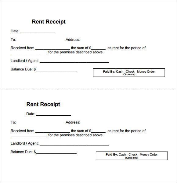 Sample Receipt Template Zesloka