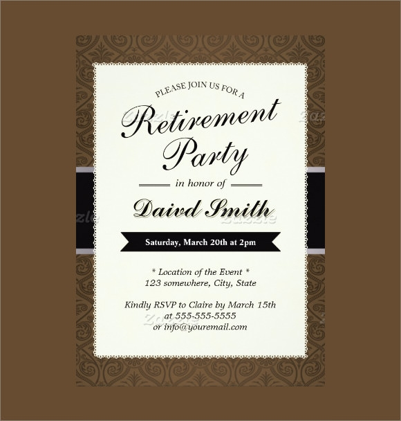 12 retirement party invitations sample templates for Retirement announcement flyer template