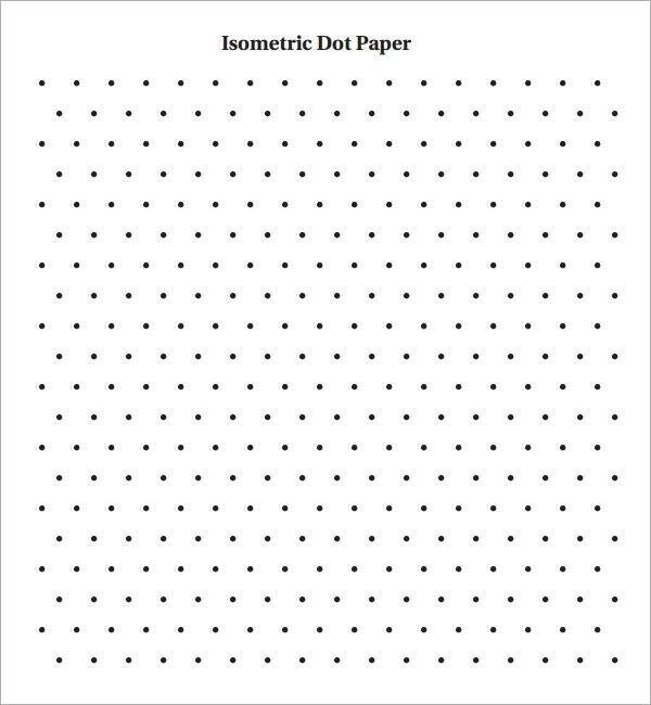 Isometric Dot Paper 8+ Free Download for PDF | Sample Templates