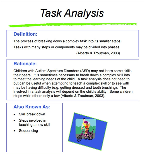 Beautiful Task Analysis Template Ideas  Best Resume Examples By
