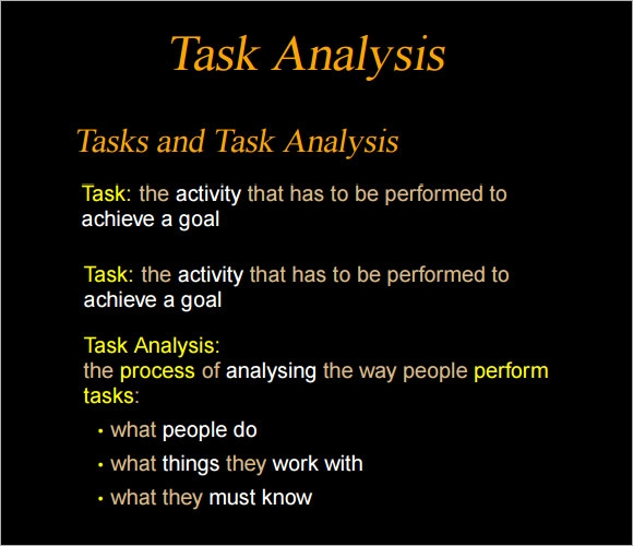 simple task analysis