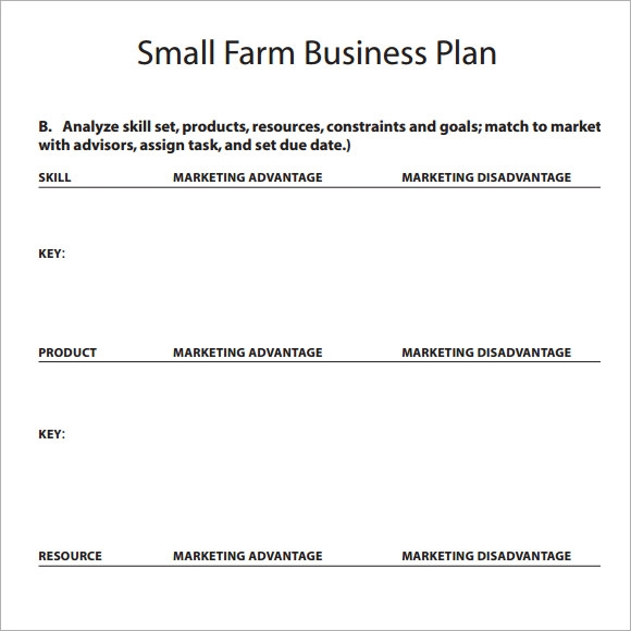 small business plan format