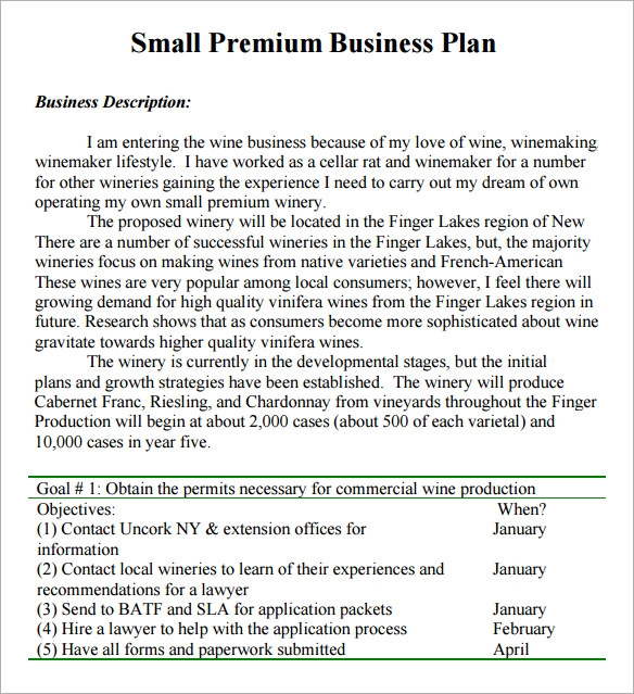 Small Business Plan Template   6 Free Download for PDF Z5hSp9Rm