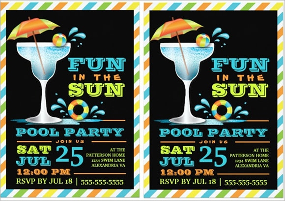 swimming pool party invitation1