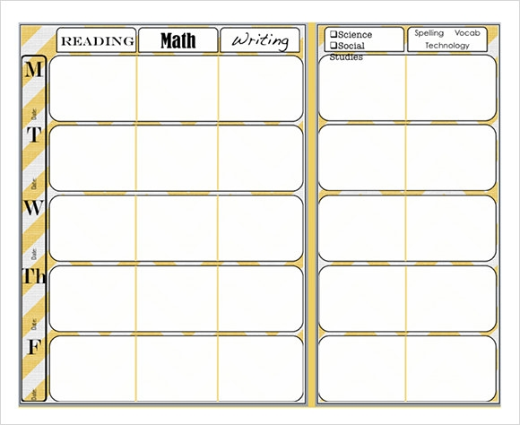 teacher planning templates