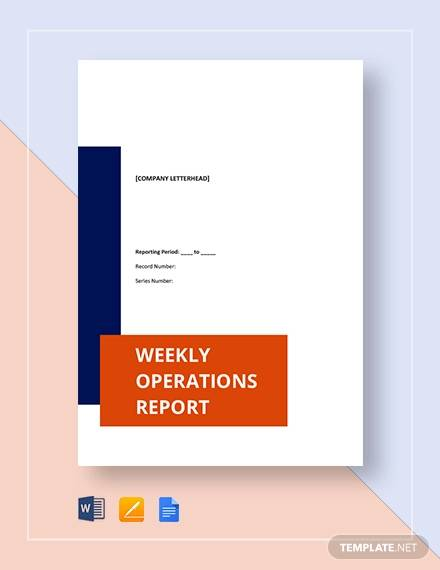 weekly operations report pro