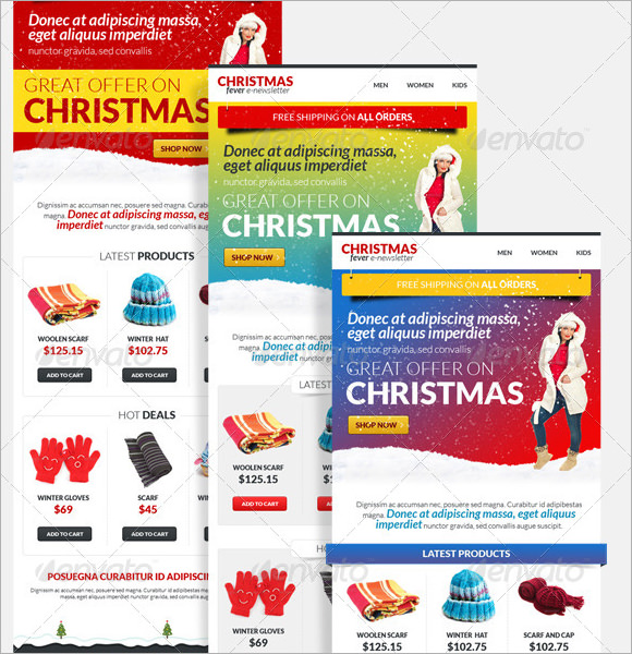 Sample Holiday Newsletters  Psd Vector Eps
