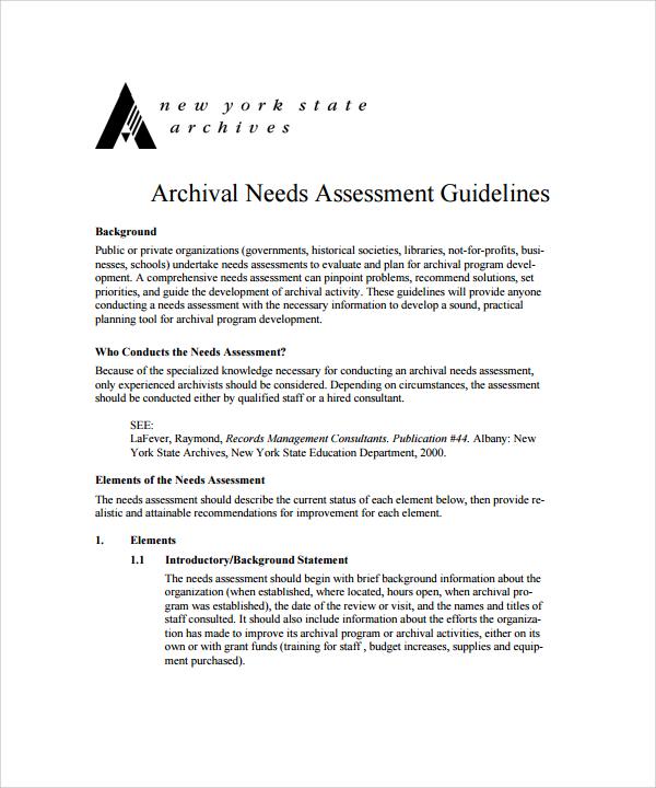 needs assessment template1