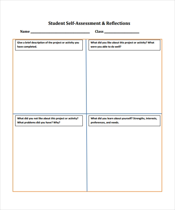 student assessment template1