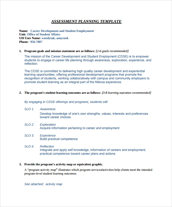 Career Assessment Template - 10+ Download Free Documents In Pdf