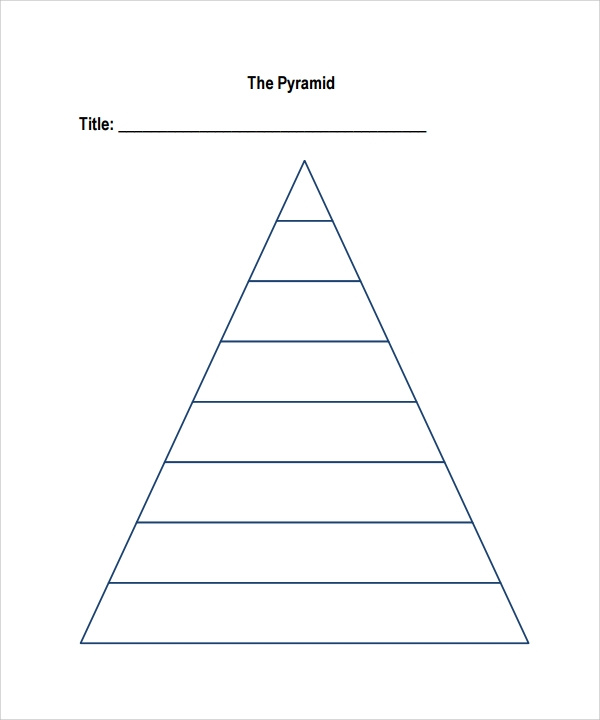 Pyramid Template D Pyramid Four Blocks Powerpoint Template Free D